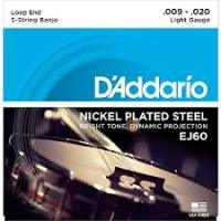 D'Addario Banjo Strings Light 9-20 (J60)
